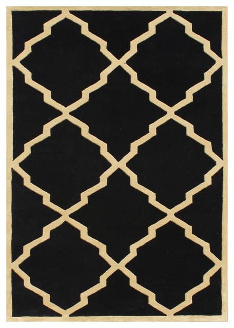 Black And Tan Contemporary Rug Tan Black 8x10