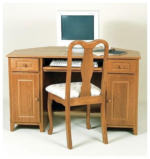 Home Office Corner Computer Desk - Modern - Home Office ...