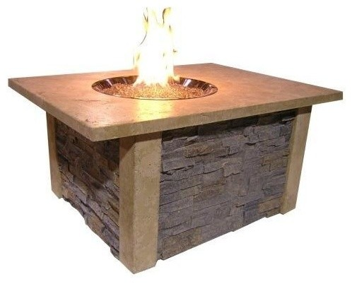 Outdoor Greatroom Company Sierra 48 Inch Propane Fire Pit Coffee Table Modern Fire Pits By
