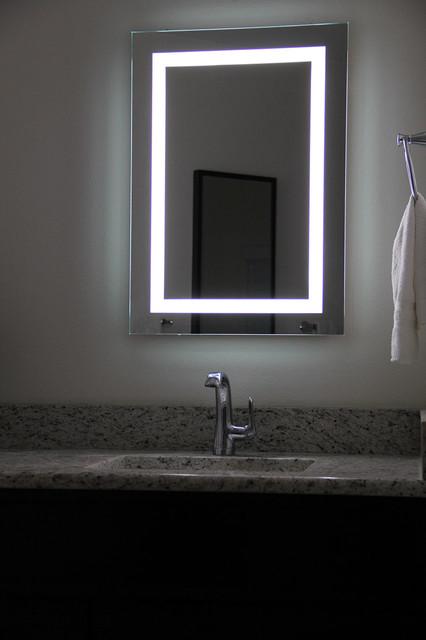 Lighted Image LED Bordered Illuminated Mirror