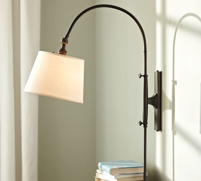 Wall Sconces Lamps : Adjustable Arc Sconce - Modern - Swing Arm Wall Lamps - by Pottery Barn