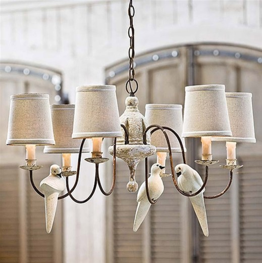 Regina Andrew Lighting Small Six Light Rusted Arm Chandelier Contemporary Chandeliers By