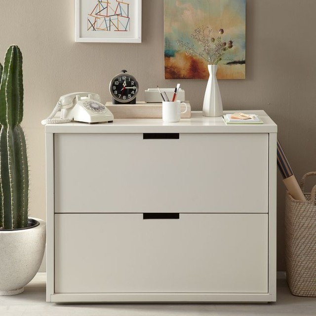 Modular File Cabinet, White - Contemporary - Filing Cabinets - by West Elm