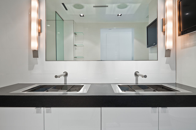 Bathroom Lavs In A Flush Mount Installation Modern Bathroom Vanities And Sink Consoles New