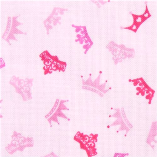 pink princess crown fabric Timeless Treasures - Fabric
