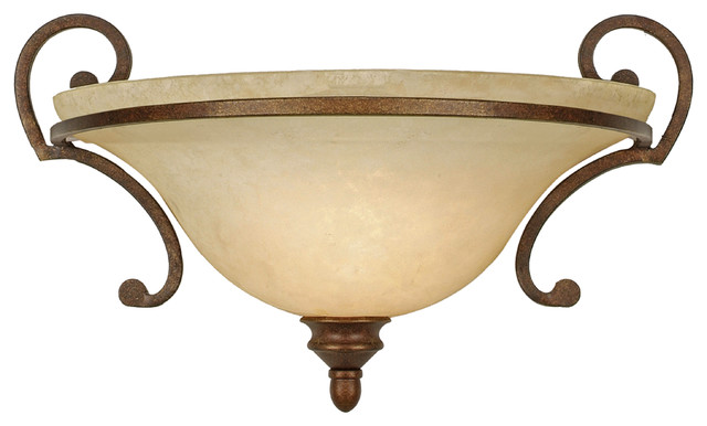 Rockefeller wall sconce champagne bronze with tea stone - Champagne bronze bathroom vanity light ...