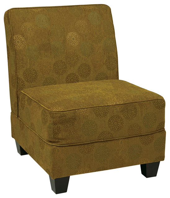 Office Star Avenue Six Milan Accent Chair In Blossom Green Traditional Living