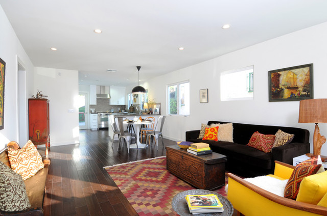 outstanding modern eclectic living room | Hip Silverlake Living Room in Global Modern Style ...