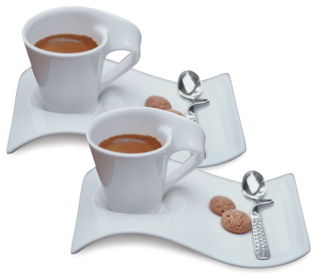 villeroy boch new wave caffe espresso cups saucers and. Black Bedroom Furniture Sets. Home Design Ideas