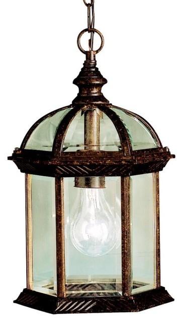 Traditional Outdoor Pendant Lighting : Kichler lighting tz new street one light outdoor