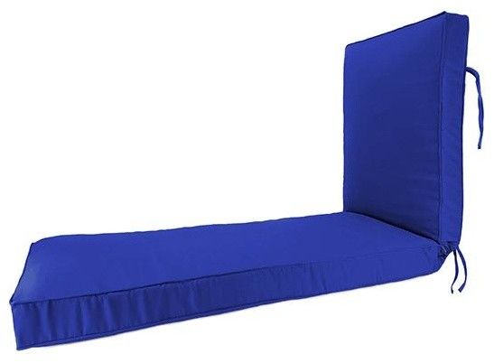 Deluxe chaise box edge outdoor cushion traditional for Box edge chaise cushion