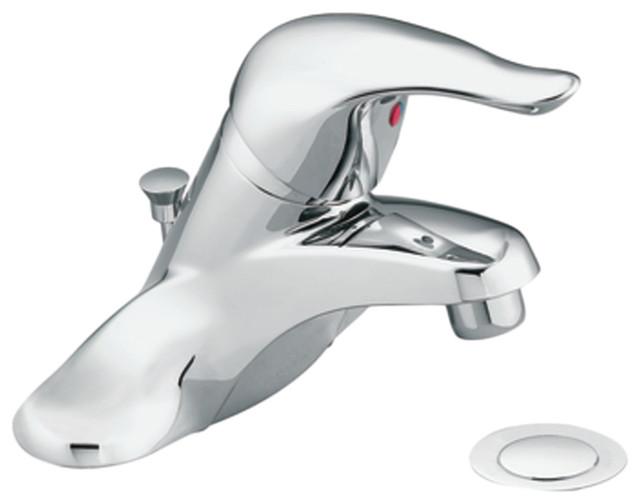 Moen CAL64621 Chrome Bath Sink Faucet Single Lever Handle 4 Centerset