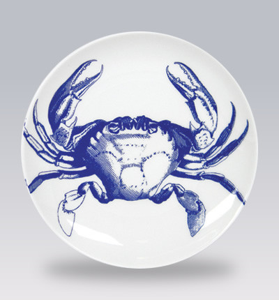 Blue crabs canape plates contemporary serveware los for Canape serving dishes