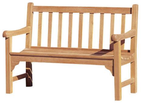 Oxford garden essex 4 39 shorea bench traditional for Outdoor furniture essex
