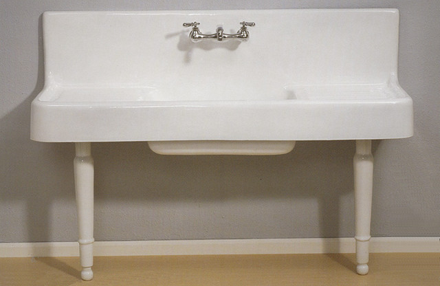 Farmhouse Drainboard Sink With Legs Traditional