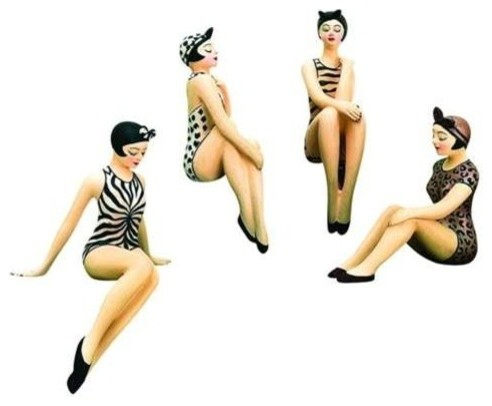 Set of Four Mini Bathing Beauties by Dr Livingstone I ...