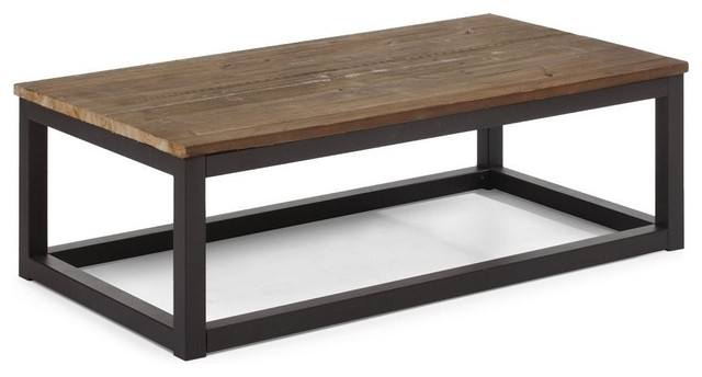 Civic Wood And Metal Coffee Table Modern Coffee Tables New York By Zin Home