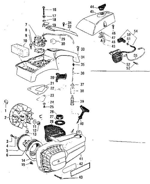 16 craftsman chainsaw fuel line diagram