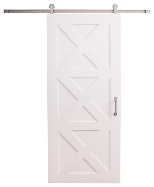 Contemporary Barn Door, White, 7