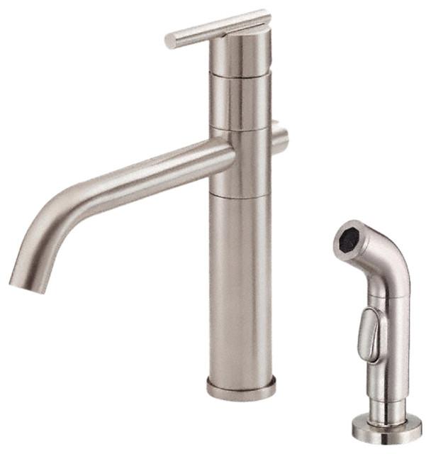 Danze D SS Kitchen Faucet W Spray Stainless Steel