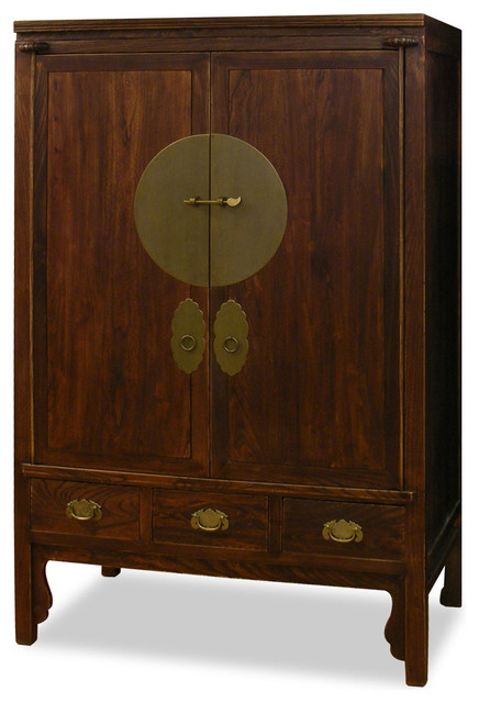 Elmwood Ming Style Wedding Cabinet Armoire Asian Wardrobes And