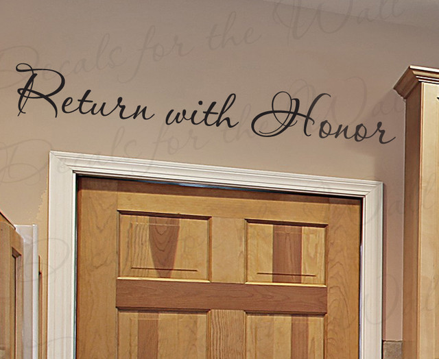 Modern Foyer Quotes : Wall decal quote sticker vinyl art return with honor