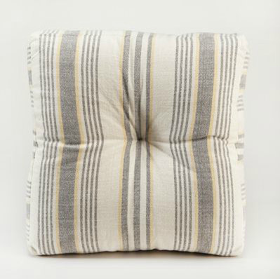 Gray/Yellow Herringbone Floor Cushion - Modern - Floor Pillows And Poufs - by Cost Plus World Market