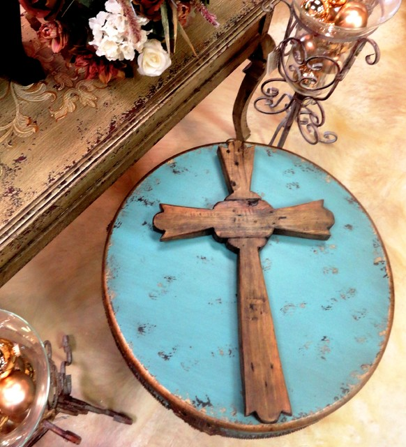 rustic cross accessory traditional home decor