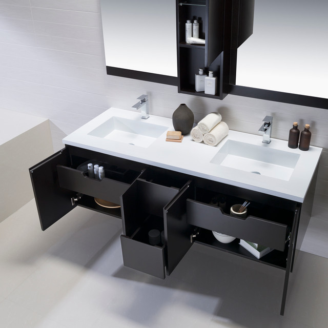 Wall Mounted Bathroom Vanities Modern Bathroom Vanity Units Sink Ca