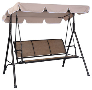 Outdoor Patio Swing 3 Person Canopy Awning Yard Furniture
