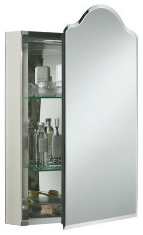 Kohler Single Door Aluminum Cabinet With Vintage Mirrored Door - Contemporary - Medicine ...