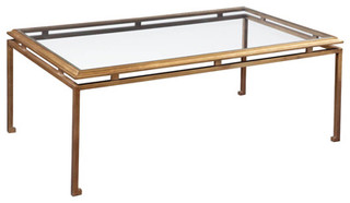 Townsend Cocktail Table Brass Transitional Coffee Tables By Emerson Bentley