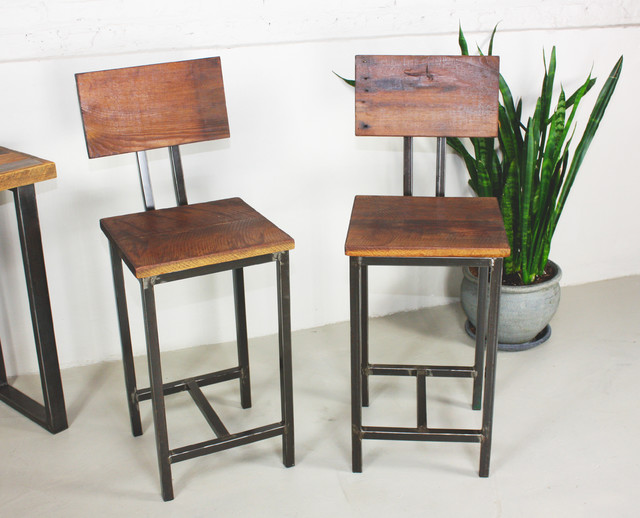 rustic metal bar stools with backs 2