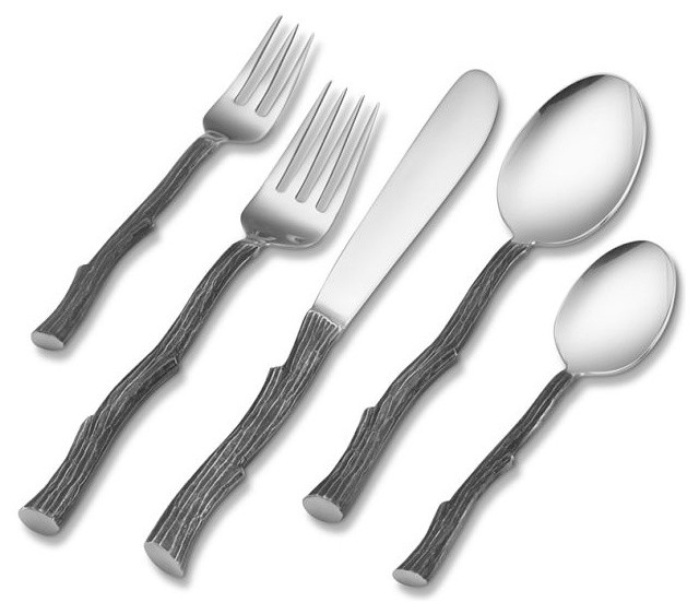 Twig 5 Piece Place Setting Modern Flatware And Silverware Sets By Williams Sonoma