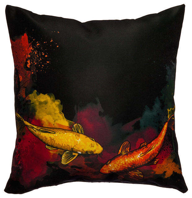 Maxwell dickson koi fish throw pillow contemporary for Koi fish pillow