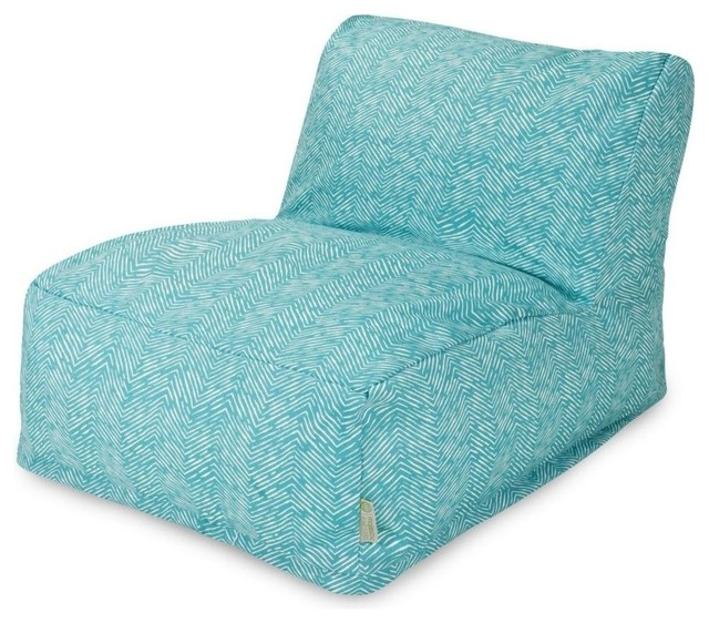 Teal navajo bean bag chair lounger contemporary bean for Bean bag chaise lounge