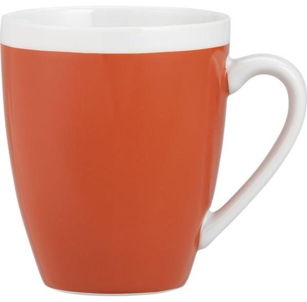 Orange mug modern mugs by crate barrel for High end coffee mugs