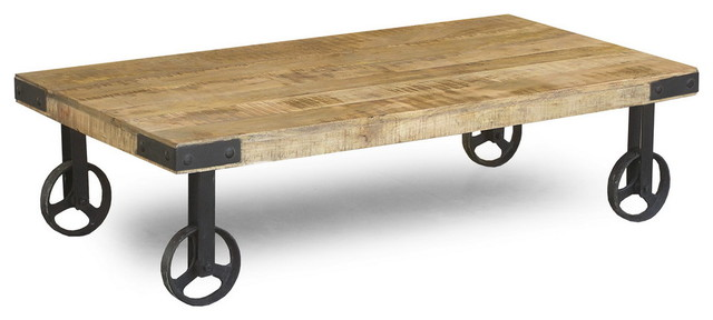 industrial cart wheels coffee table eclectic coffee tables san francisco by timbergirl. Black Bedroom Furniture Sets. Home Design Ideas