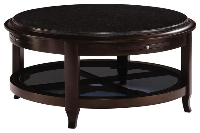 Kincaid Alston Solid Wood Round Cocktail Table