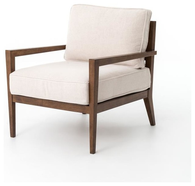 Four Hands Kensington Laurent Wood Frame Accent Chair ...
