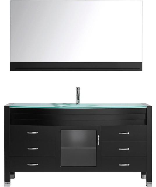 Ava One Single Bathroom Vanity Set Espresso Modern Bathroom Vanities And Sink Consoles By
