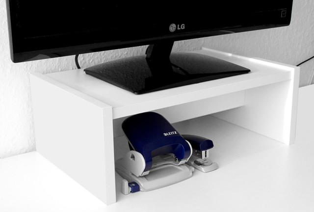 wei er schreibtischuntersatz f r ikea galant scandinavo. Black Bedroom Furniture Sets. Home Design Ideas