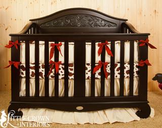 Western Silk Crib Bedding Rustic Baby Bedding Orange