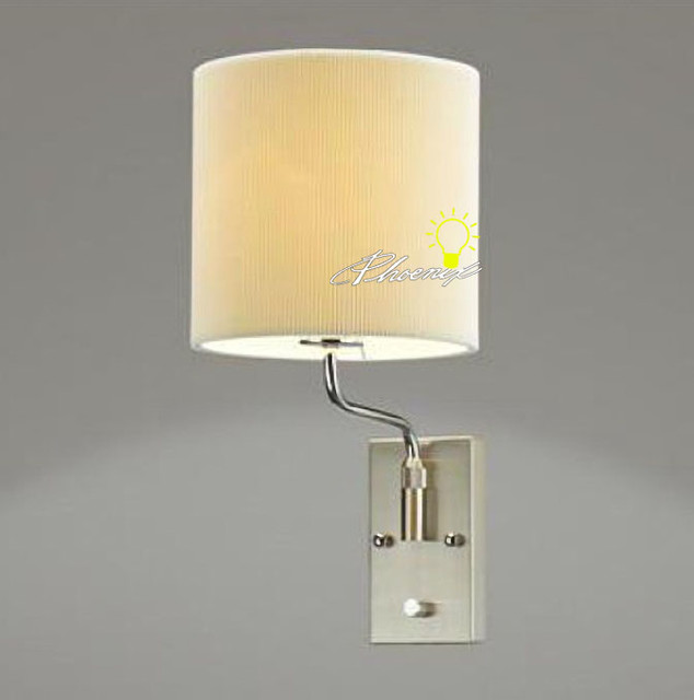 Adjustable Wall Lights Contemporary : Modern Adjustable Lumen Fabric Wall Sconce in Chrome Finish - Contemporary - Wall Sconces - new ...