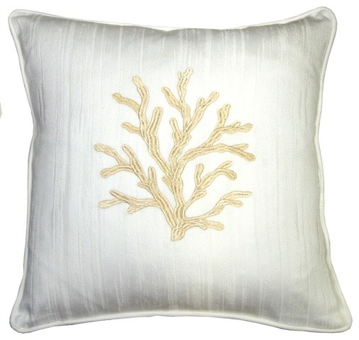 Sea Coral Throw Pillow - Beach Style - Decorative Pillows - by Pillow Decor Ltd.