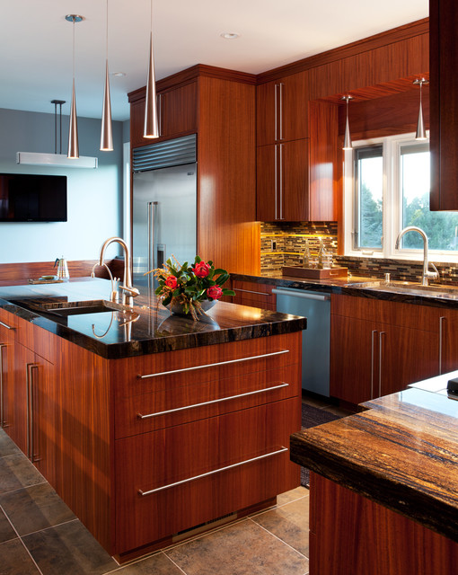African Mahogany Kitchen Contemporary Kitchen San Francisco By