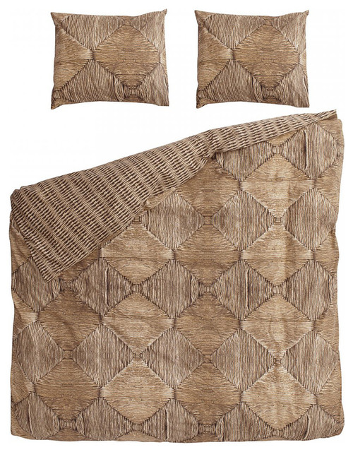 Snurk Wicker Queen Quilt Cover Set Contemporary