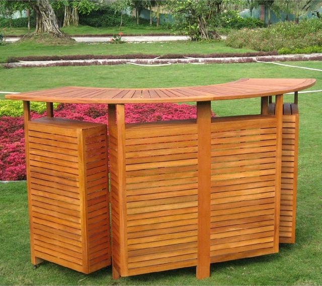 International caravan royal tahiti outdoor balau wood folding bar ...