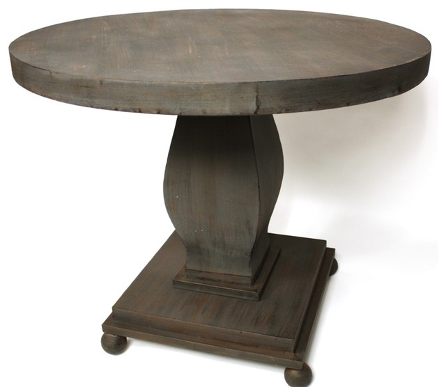 Round Wood Table In Brown And Grey Dining Tables Miami