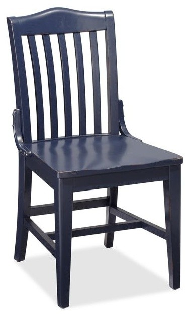 Stella Chair Navy Traditional Dining Chairs
